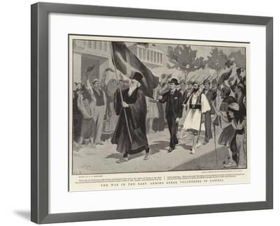 The War in the East, Arming Greek Volunteers in Larissa--Framed Giclee Print