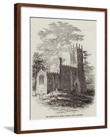 The Church of St Peter, Gamston, Nottinghamshire, Restored--Framed Giclee Print