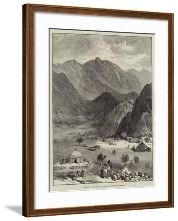 Sketches in the Soudan, the Defile of Haraza, in Kordofan--Framed Giclee Print