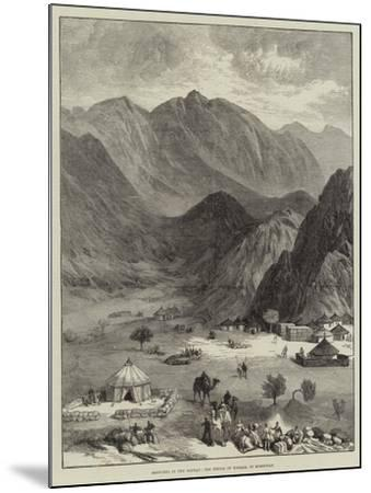 Sketches in the Soudan, the Defile of Haraza, in Kordofan--Mounted Giclee Print