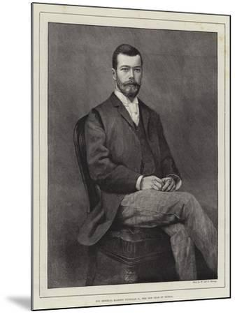 His Imperial Majesty Nicholas II, the New Czar of Russia--Mounted Giclee Print
