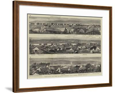 Panorama of the Diamond Fields, Vaal River, South Africa--Framed Giclee Print