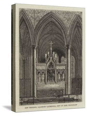 New Reredos, Salisbury Cathedral, Gift of Earl Beauchamp--Stretched Canvas Print