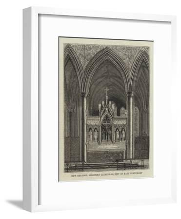 New Reredos, Salisbury Cathedral, Gift of Earl Beauchamp--Framed Giclee Print