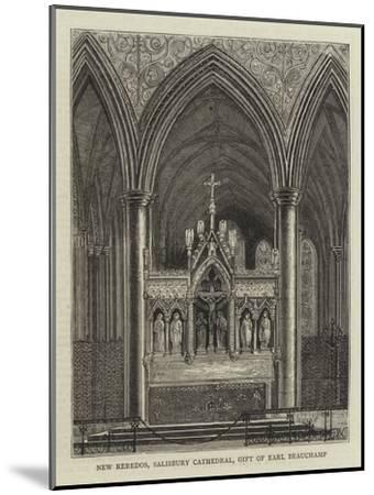 New Reredos, Salisbury Cathedral, Gift of Earl Beauchamp--Mounted Giclee Print