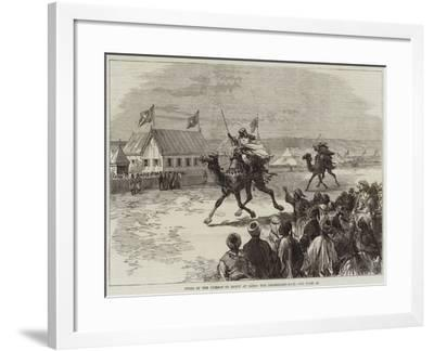 Fetes of the Viceroy of Egypt at Cairo, the Dromedary-Race--Framed Giclee Print