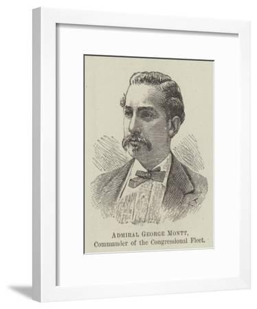 Admiral George Montt, Commander of the Congressional Fleet--Framed Giclee Print