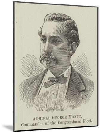 Admiral George Montt, Commander of the Congressional Fleet--Mounted Giclee Print