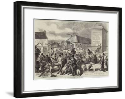 Sketches from Ireland, the Pig Fair at Trim, County Meath--Framed Giclee Print