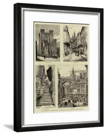 The George Stephenson Centenary, Newcastle Illustrated--Framed Giclee Print