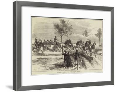 The Prince of Wales at Seville, Driving a Spanish Turn-Out--Framed Giclee Print