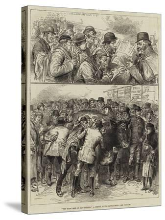 The Roast Beef of Old England, a Sketch at the Cattle Show--Stretched Canvas Print