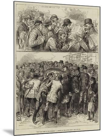The Roast Beef of Old England, a Sketch at the Cattle Show--Mounted Giclee Print