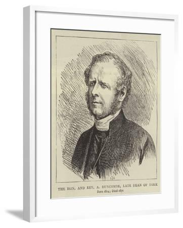 The Honourable and Reverend a Duncombe, Late Dean of York--Framed Giclee Print