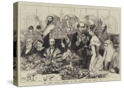 The Lord Mayor's Banquet at the Guildhall, the Loving Cup--Stretched Canvas Print