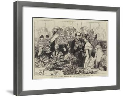 The Lord Mayor's Banquet at the Guildhall, the Loving Cup--Framed Giclee Print