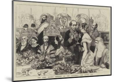 The Lord Mayor's Banquet at the Guildhall, the Loving Cup--Mounted Giclee Print