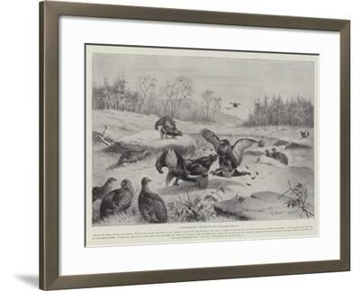 A March Morning, the Blackcocks' Tournament-Ground--Framed Giclee Print