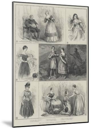 Jenny Lind in Some of Her Most Celebrated Characters--Mounted Giclee Print
