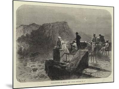 Tiger-Shooting at Rewah, See Indian Sketches, No V--Mounted Giclee Print