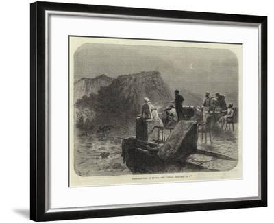 Tiger-Shooting at Rewah, See Indian Sketches, No V--Framed Giclee Print
