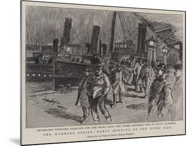 The Hamburg Strike, Early Morning at the River Side--Mounted Giclee Print