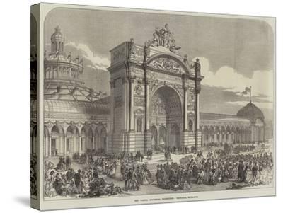 The Vienna Universal Exhibition, Principal Entrance--Stretched Canvas Print