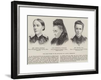 The First Women to Be Appointed to a Royal Commission--Framed Giclee Print