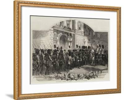 The Guards Cheering Her Majesty at Buckingham Palace--Framed Giclee Print
