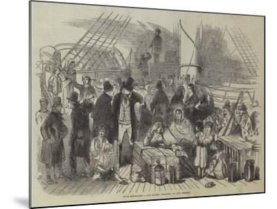 Irish Emigrants, the Recent Collision on the Mersey--Mounted Giclee Print