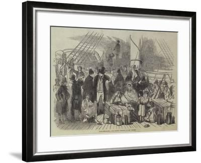 Irish Emigrants, the Recent Collision on the Mersey--Framed Giclee Print
