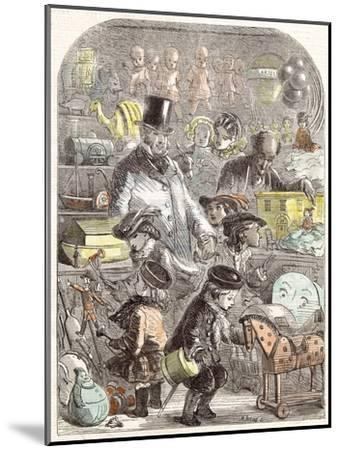 New Year's Gifts, the Toyshop, Jackson Children, 1860--Mounted Giclee Print