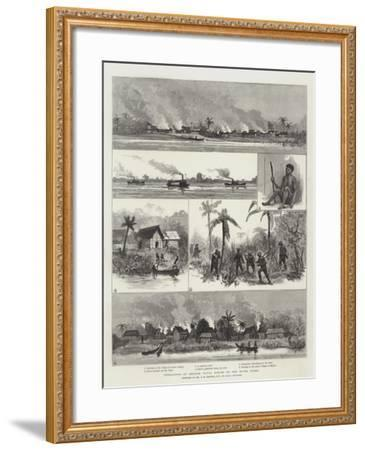 Operations of British Naval Forces on the River Niger--Framed Giclee Print