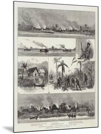 Operations of British Naval Forces on the River Niger--Mounted Giclee Print