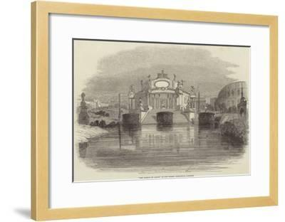 The Temple of Janus, at the Surrey Zoological Gardens--Framed Giclee Print