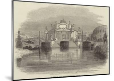 The Temple of Janus, at the Surrey Zoological Gardens--Mounted Giclee Print