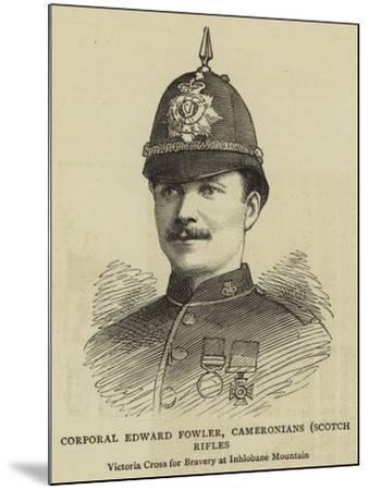 Corporal Edward Fowler, Cameronians, Scotch Rifles--Mounted Giclee Print