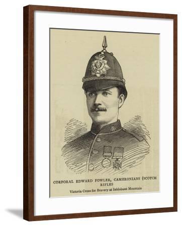 Corporal Edward Fowler, Cameronians, Scotch Rifles--Framed Giclee Print