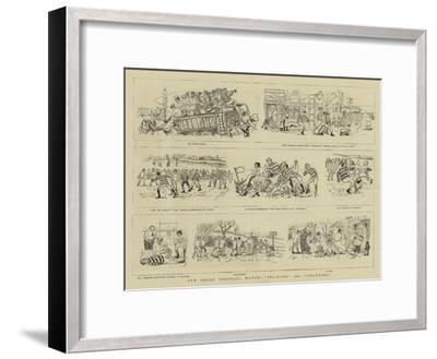 Our Great Football Match, Pelicans Versus Phantoms--Framed Giclee Print