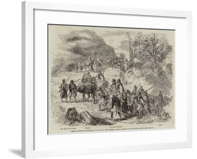 Greek Peasants on their Way to Welcome King George I--Framed Giclee Print