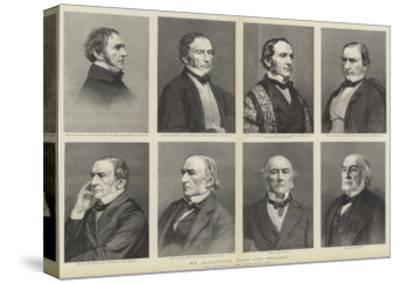 William Ewart Gladstone, Portraits, Past and Present--Stretched Canvas Print