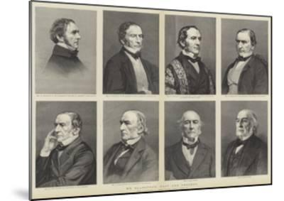 William Ewart Gladstone, Portraits, Past and Present--Mounted Giclee Print