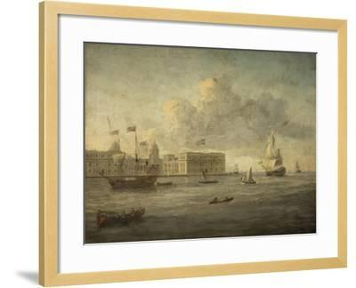 Greenwich Hospital, Off Which Lies the Royal Yacht--Framed Giclee Print