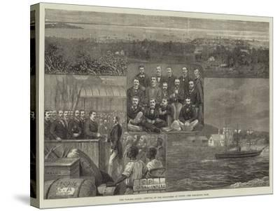 The Panama Canal, Arrival of the Engineers at Colon--Stretched Canvas Print