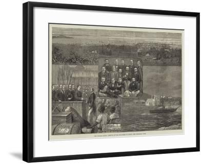 The Panama Canal, Arrival of the Engineers at Colon--Framed Giclee Print