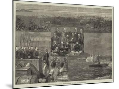 The Panama Canal, Arrival of the Engineers at Colon--Mounted Giclee Print