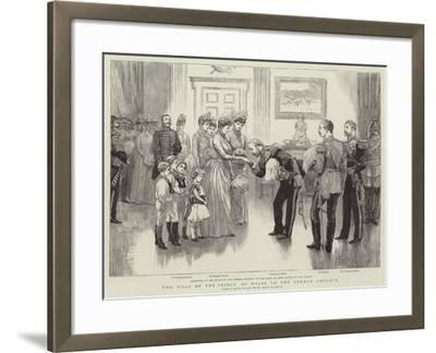 The Visit of the Prince of Wales to the German Emperor--Framed Giclee Print
