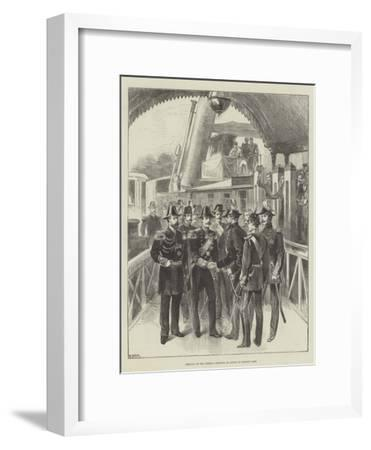 Arrival of the German Emperor at Cowes on Monday Last--Framed Giclee Print
