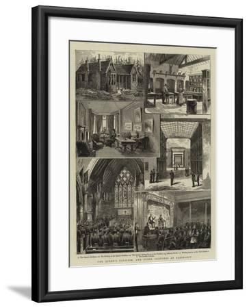The Queen's Pavilion, and Other Sketches at Aldershot--Framed Giclee Print