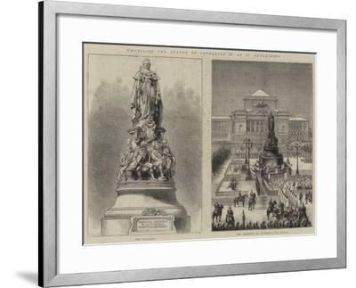 Unveiling the Statue of Catherine II at St Petersburg--Framed Giclee Print